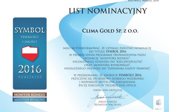 Nominacja Symbol 2016